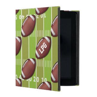 Personalized Football Pattern on Sports Field iPad Folio Case