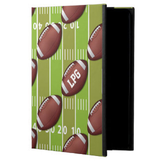 Personalized Football Pattern on Sports Field iPad Air Cases