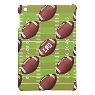 Personalized Football Pattern on Sports Field iPad Mini Case