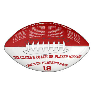 Personalized Footballs 8 Text Boxes, Your Colors