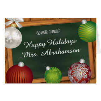 Personalized For Teacher Christmas Card