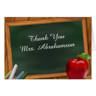 Personalized For Teacher Thank You Card