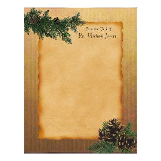 Personalized Forest Parchment Letterhead sheets