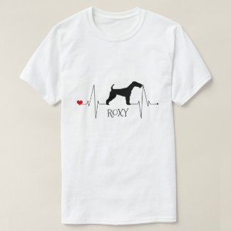 Personalized Fox Terrier Love My Dog Heart Beat T-Shirt