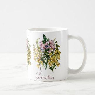 Personalized Foxgloves Coffee Mug