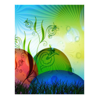 Personalized Fractal Easter Eggs Customized Letterhead