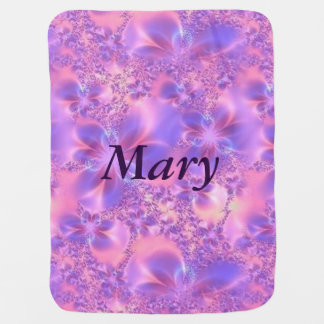 Personalized Fractal Flower Baby Blanket