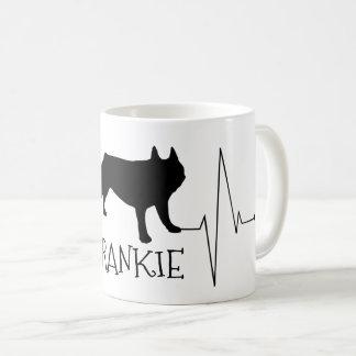 Personalized French Bulldog Love My Dog Heart Beat Coffee Mug
