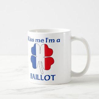 Personalized French Kiss Me I'm Baillot Classic White Coffee Mug