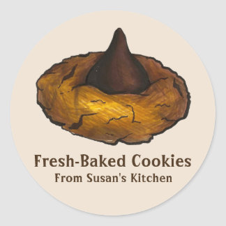 Personalized Fresh-Baked Peanut Butter Cookie Classic Round Sticker