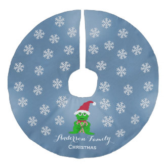 Personalized Frog Christmas Tree Skirt