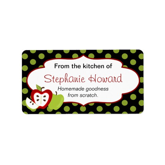 Personalized From The Kitchen With Apples Label