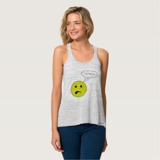 Personalized Frowning Face Tank Top