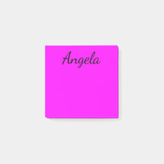 Personalized Fuchsia Solid Color Post-it® Notes