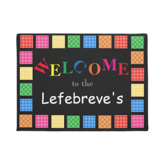 Personalized Fun & Colorful Welcome Doormat