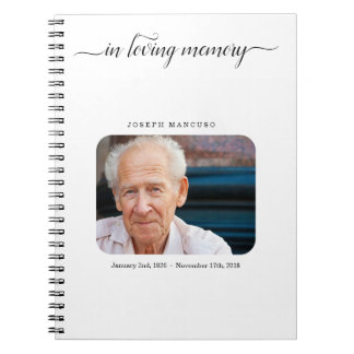 Personalized Funeral Guest Book / Memorial Sign In
