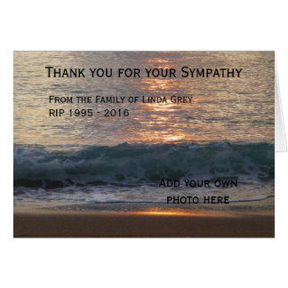 Personalized funeral thank you cards - Sea at Dawn