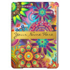 Personalized Funky Boho Floral Flame Mandalas iPad Air Cover