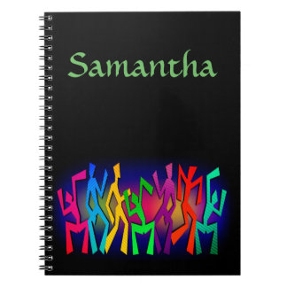 Personalized Funky Dancers Notebook