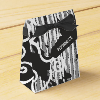 Personalized Funky Wild Black and White Favor Box