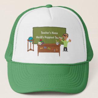 Personalized Funny Cartoon Teacher Male Trucker Hat