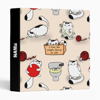 Personalized funny Cats Binders