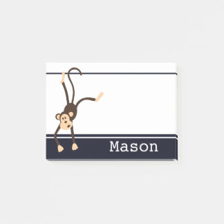 Personalized Funny Cheeky Monkey Post-it Notes