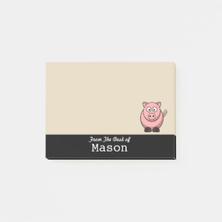 Personalized Funny Fat Pink Pig Post-it Notes