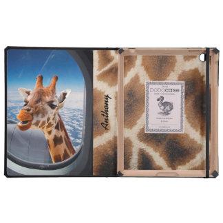 Personalized Funny Giraffe iPad 2/3/4 DODOcase iPad Cases