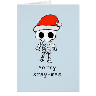 Personalized funny 'merry x-raymas' card