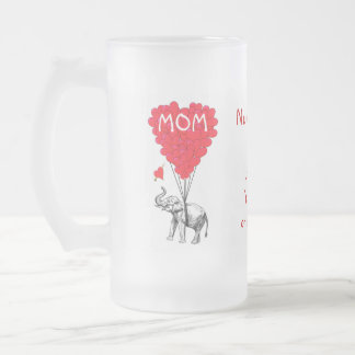 Personalized funny mothers day frosted glass beer mug
