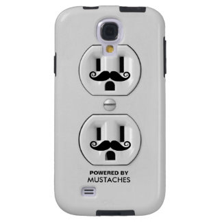 Personalized Funny Mustache Power Outlet Galaxy S4 Case