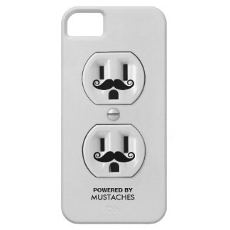 Personalized Funny Mustache Power Outlet iPhone 5 Case