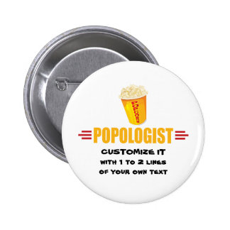 Personalized Funny Popcorn 2 Inch Round Button