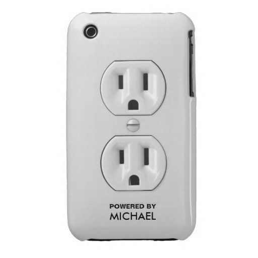 Personalized Funny Power Outlet iPhone 3 Cases