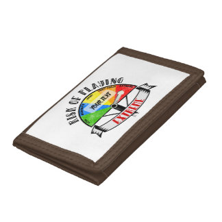Personalized Funny Sport or Music design Trifold Wallet