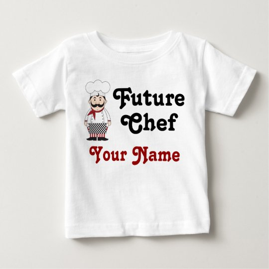 Personalized Future Chef Infant Tee Shirt