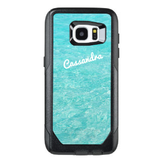 Personalized Galaxy 7 Edge Case   Clear Blue Water
