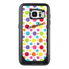 Personalized Galaxy 7 Edge Case | Colourful Dots