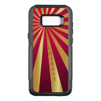 Personalized Galaxy 7 Edge Case | Red, Gold Stripe