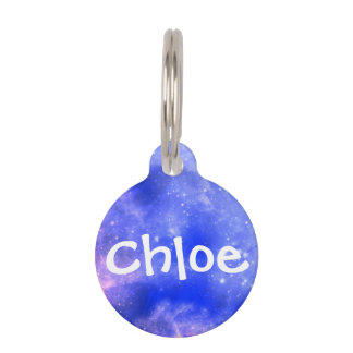 Personalized Galaxy Pet ID Tag - Small