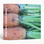 Personalized Garden Fresh Carrots Avery Binder