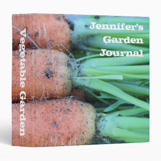 Personalized Garden Fresh Carrots Avery Binder
