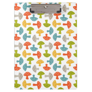 Personalized Garden Party Mushrooms Clipboard