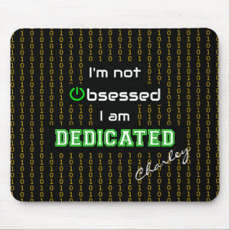 Personalized geek quote computing mouse pad