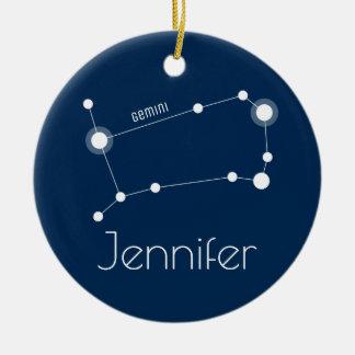 Personalized Gemini Constellation Ornament