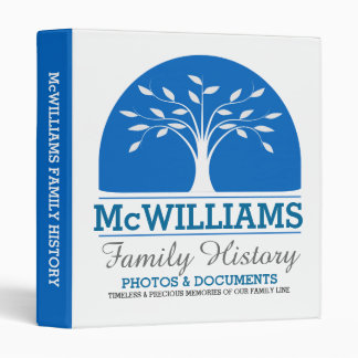 Personalized Genealogy-Family History 3 Ring Binder