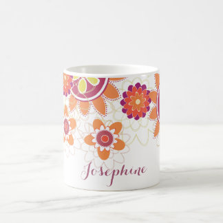 Personalized Geometrical Retro Flowers mug