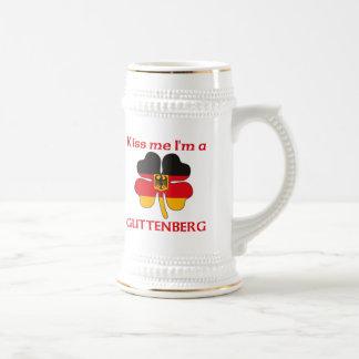 Personalized German Kiss Me I'm Guttenberg 18 Oz Beer Stein