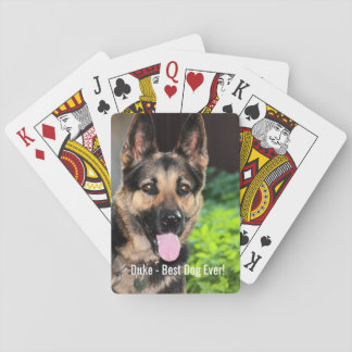 Personalized German Shepherd Dog Photo, Dog Name Playing Cards